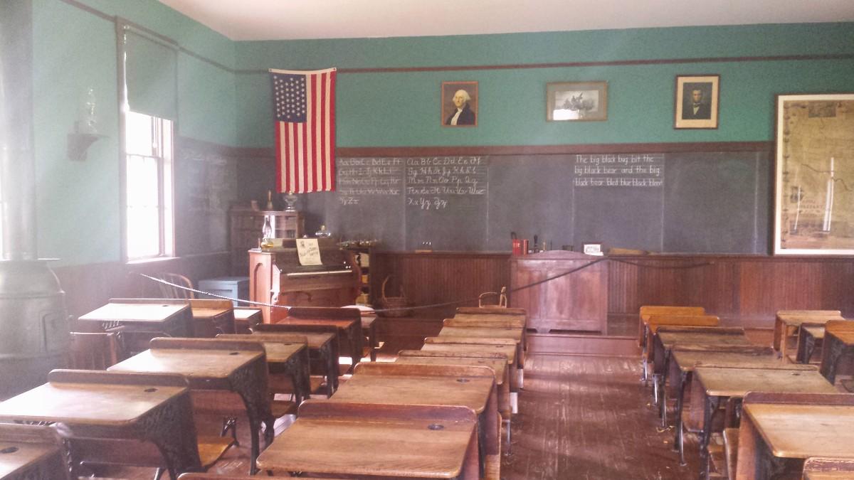 an old school room
