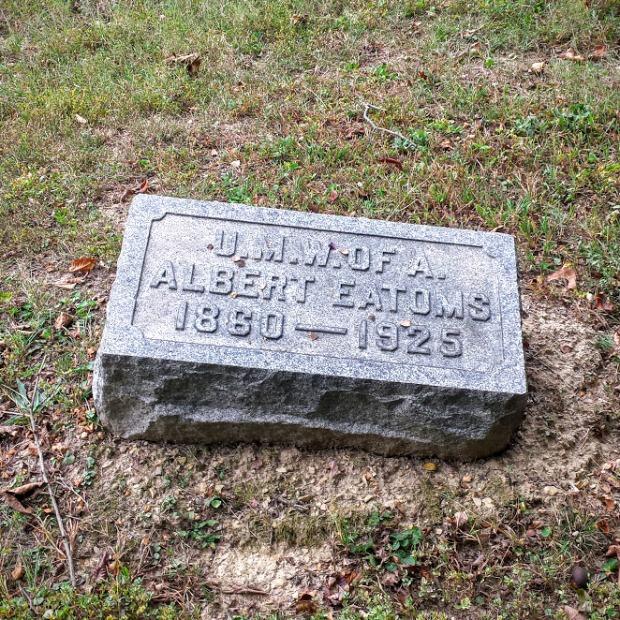 The gravestone of a member of the United Mine Workers of America