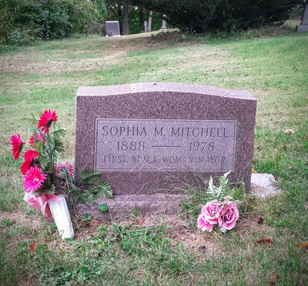 Resting place of Sophia Mitchell, one the first black women to hold the mayor's office