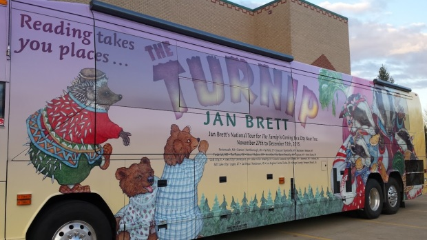 Jan Brett is such a baller she has her own bus